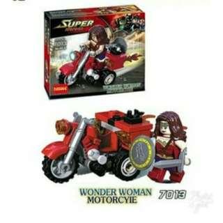 Lego super hero motor wonder woman decool 7013
