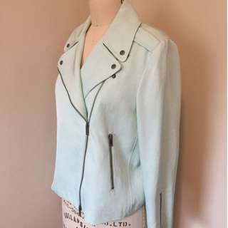 Club Monaco Mint Green Cropped Jacket Size Medium - $40