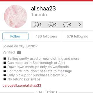 SHE IS A SCAM... I GAVE HER A NEW ITEM AND SHE GAVE ME USWD AMD A DIRTY CLOTH WHILE SHE CLAIMED IT WAS NEW.... EVERY ITEM THAT SHE GAVE ME WAS USED WHILE THATS NOT WHAT SHE SAID.... NEVER TRUST HER.... NEVER!!