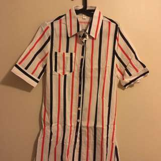 Stipe Dress Polo