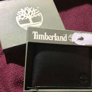 Timberland Black Leather Bi-Fold Men's Wallet