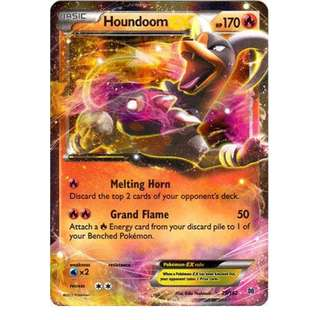 Pokemon card Houndoom EX