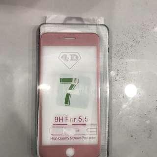 Tempered glass 4D iphone 7plus atau 6plus