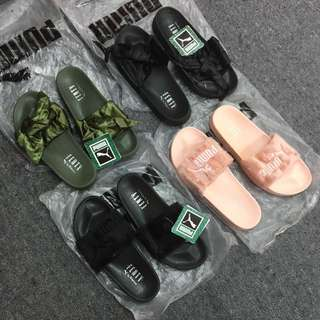 PUMA FENTY SLIDES (fur & ribbon)