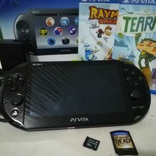PS Vita with Games and Memory card