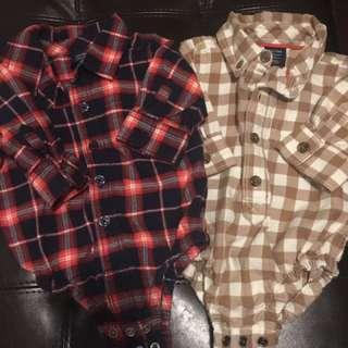 Baby Gap dress shirts - 0 to 3 months