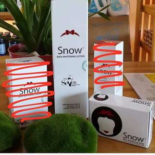 Snow lotion and soap