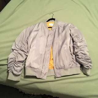 Lifted Anchors Grey Bomber Jacket Size XXL