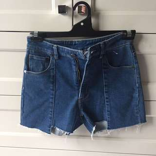 BRAND NEW LIFE WITH BIRD DENIM SHORTS