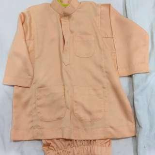 Custom-made baju melayu for 3-4 year old boys