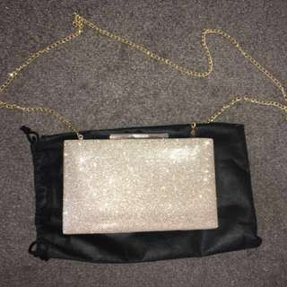 Collette gold clutch