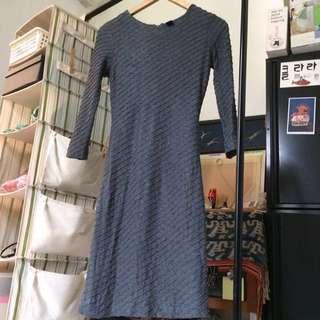 Grey Bodycon Dress Mango Suit