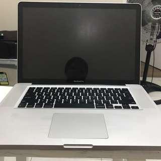 Macbook Pro6,2 15 inch Mid 2010