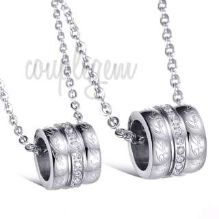 Couple Roller Bucket Necklaces