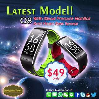 2017 Blood Pressure and Heartbeat Monitor Smart Watch - Q8
