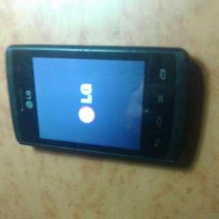 Hp android lg lyr 3.5inc minus lcd ga bisa digeser
