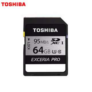 Toshiba 64GB SD EXCERIA™ PRO Memory Card N401 R 95mb/s - Made in Japan