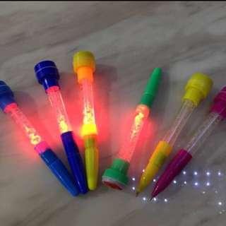 Fancy Stamp Bubble Light Pen
