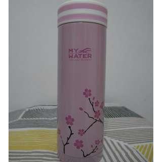 櫻花粉保溫瓶