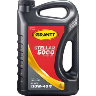 GRANTT STELLAR 5000 SAE 10W-40 (SEMI-SYNTHETIC ENGINE OIL / MINYAK HITAM SEMI SINTETIK)