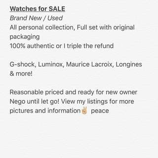 Watch Collection Clearance