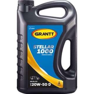 GRANTT STELLAR 1000 SAE 20W-50 (PREMIUM MINERAL ENGINE OIL / MINYAK HITAM PREMIUM MINERAL)