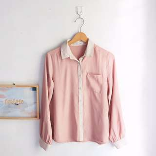 Baby Pink Polyester Shirt
