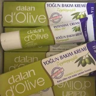 土耳其購入 dalan d'Olive 橄欖油 護手/護膚 滋養修護霜