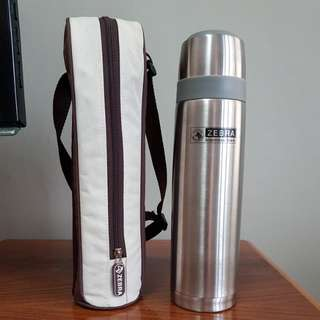 Zebra Prima II 0.8L Vacuum flask with Bag