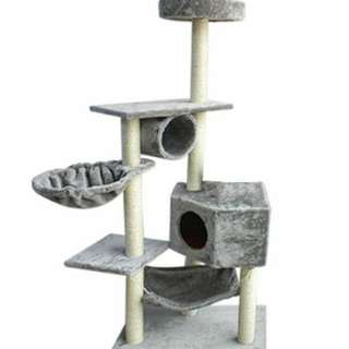 Brand New! $65 Cat condo Scratching Post House Cat Tree Climber Play Pad Pole Kitty Platform Kitten litter Apple iPhone Samsung Fur Furkid Feline Pet Meow Carpet Furniture Stand Cream Beige Ivory Grey Silver Black Brown Coffee Catnip we