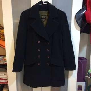 EXPRESS 輕暖羊毛長大衣外套 白俄羅斯製造