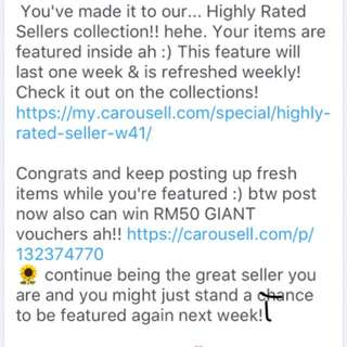 Highly rated seller