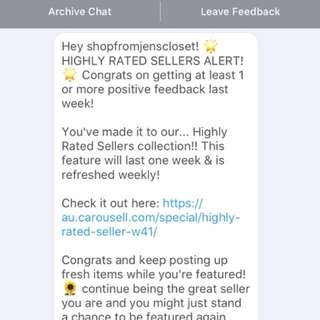Highly rated seller - Thank you 🌟