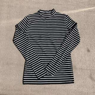 Stripes Ribbed High Neck Top