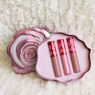 Lime Crime Velvetin Pink Rose Set