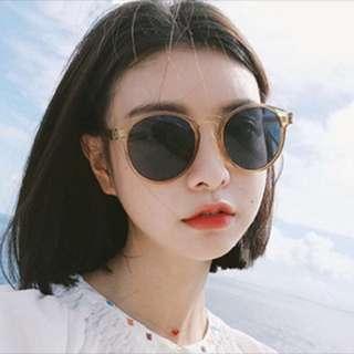 復古透明框太陽眼鏡(香檳色)