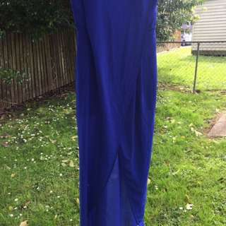 Portmans blue tube dress size 8-10