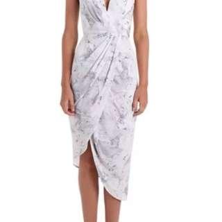 Zimmermann marble plunge dress