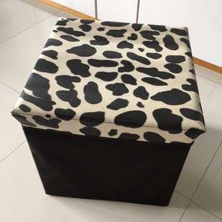 Cushion Stool & Storage Box 2 In 1
