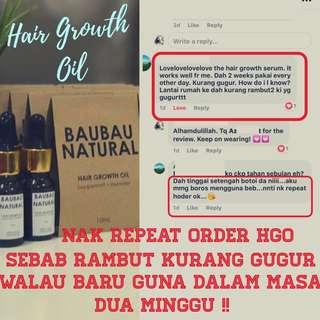 PROMOSI !! BaubauNatural Hair Growth Oil for 10ml