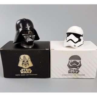 一白一黑 Starwars 星戰 黑武士 Darth Vader 白兵 Stormtrooper 車香