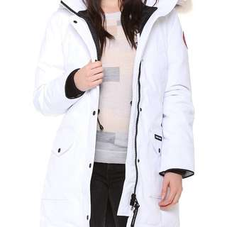 AUTHENTIC white Trillium Canada Goose Parka size small