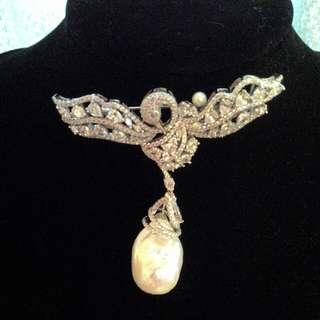 天然異形珍珠精鑲2用