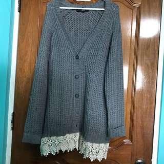 Forever 21 grey knit cardigan