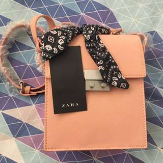 ZARA dusty pink handbag
