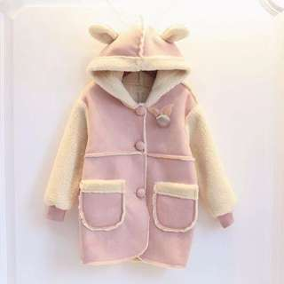 {Promotion!!!} Winter style baby girl rabbit jacket