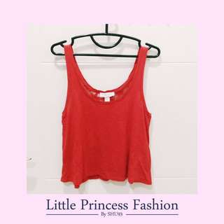 Forever21 Red Crop tank