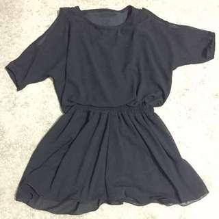 Chiffon romper dress