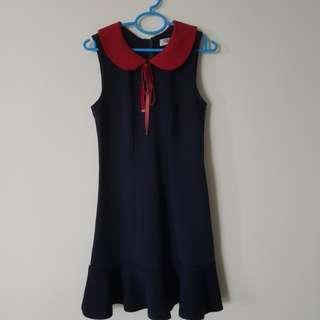 Kitschen Petal Collar Ribbon Dress