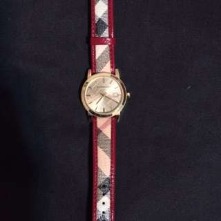 Burberry Red Haymarket Watch
